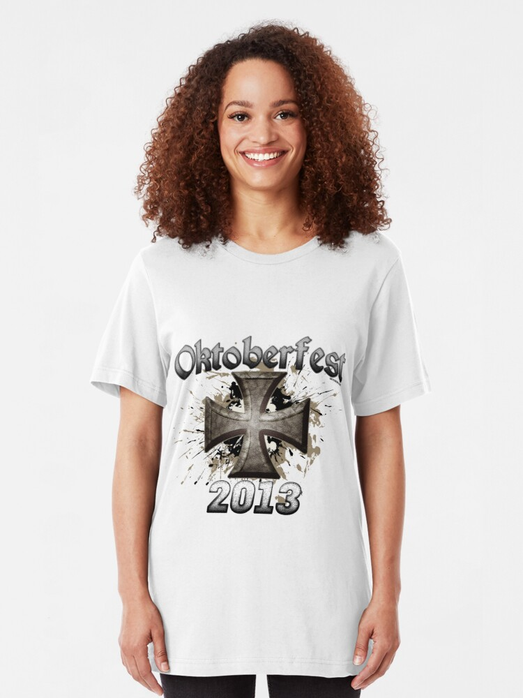 Alternate view of Oktoberfest Iron Cross 2013 Slim Fit T-Shirt