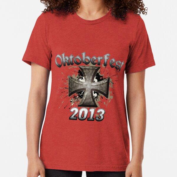 Oktoberfest Iron Cross 2013 Tri-blend T-Shirt