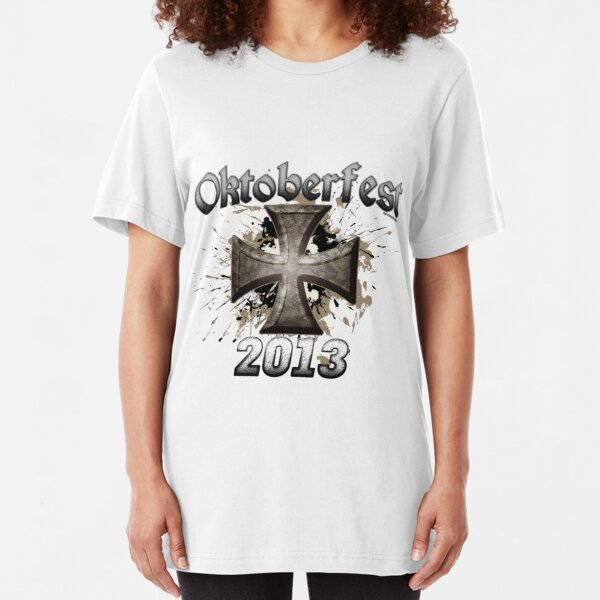 Oktoberfest Iron Cross 2013 Slim Fit T-Shirt