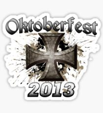 Oktoberfest Iron Cross 2013 Sticker