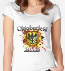 Oktoberfest Eagle Shield 2013 Women's Fitted Scoop T-Shirt