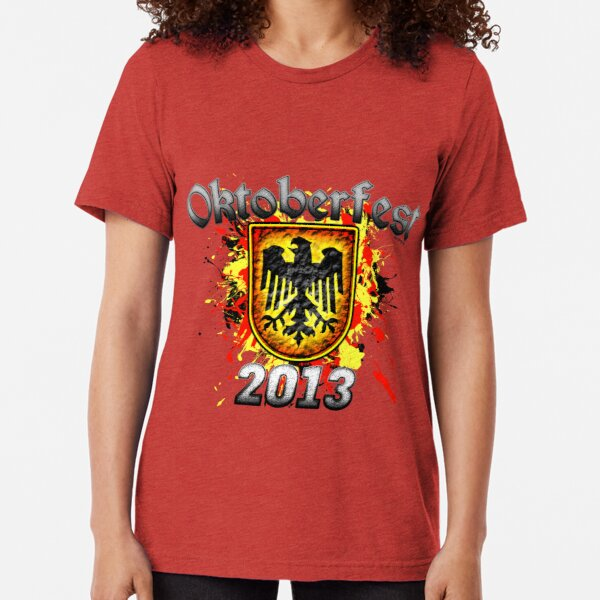 Oktoberfest Eagle Shield 2013 Tri-blend T-Shirt