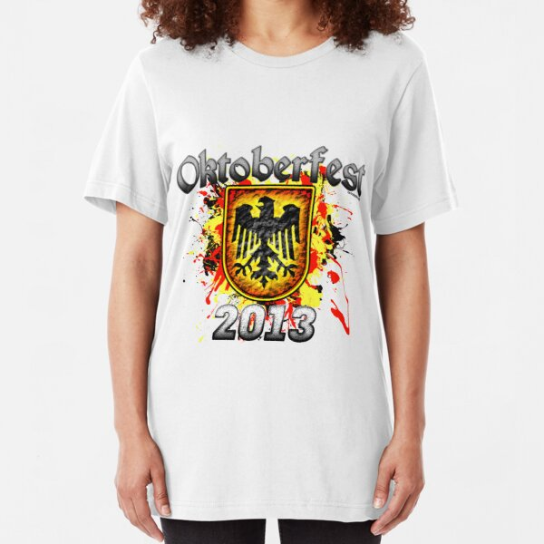 Oktoberfest Eagle Shield 2013 Slim Fit T-Shirt