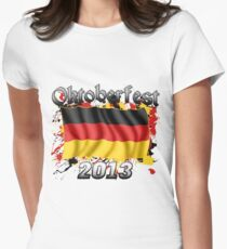Oktoberfest German Flag 2013 Women's Fitted T-Shirt