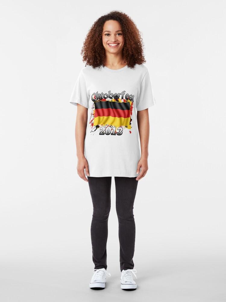 Alternate view of Oktoberfest German Flag 2013 Slim Fit T-Shirt