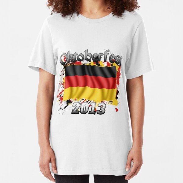 Oktoberfest German Flag 2013 Slim Fit T-Shirt
