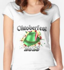 Oktoberfest German Hat 2013 Women's Fitted Scoop T-Shirt
