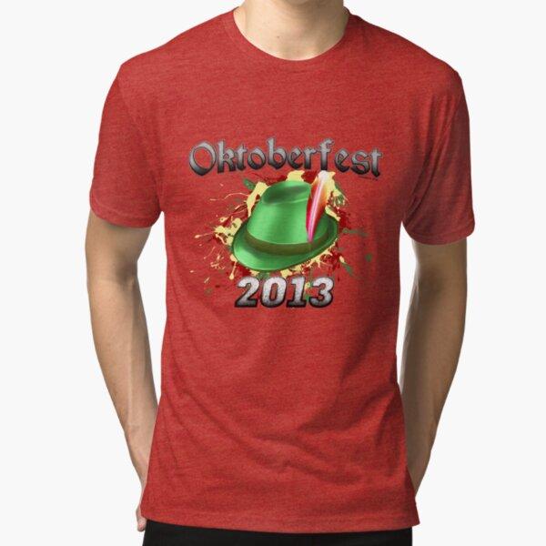 Oktoberfest German Hat 2013 Tri-blend T-Shirt