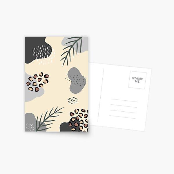 Leopard Organic Shapes Print Postcard