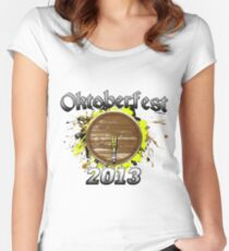 Oktoberfest Keg 2013 Women's Fitted Scoop T-Shirt