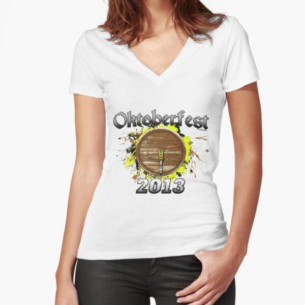 Oktoberfest Keg 2013 Fitted V-Neck T-Shirt