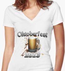 Oktoberfest Beer Mug 2013 Women's Fitted V-Neck T-Shirt