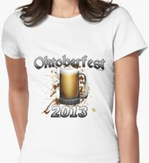 Oktoberfest Beer Mug 2013 Women's Fitted T-Shirt