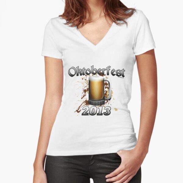 Oktoberfest Beer Mug 2013 Fitted V-Neck T-Shirt
