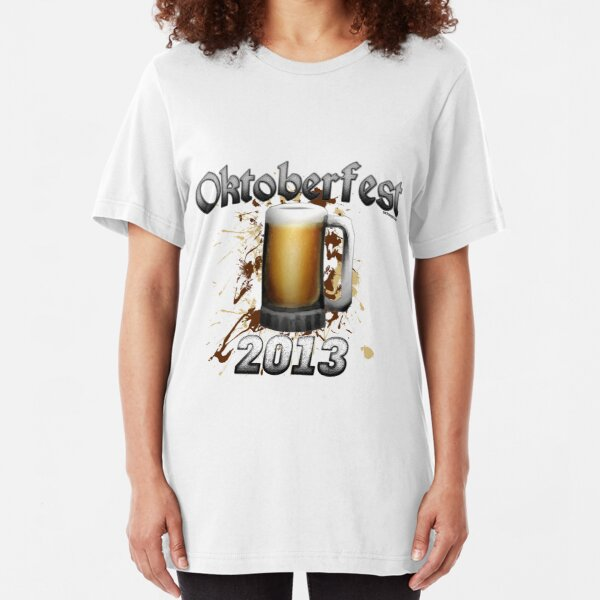Oktoberfest Beer Mug 2013 Slim Fit T-Shirt