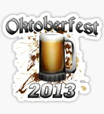 Oktoberfest Beer Mug 2013 Sticker