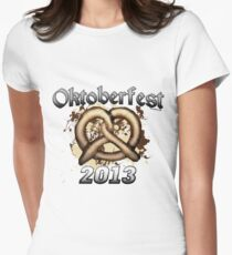 Oktoberfest Pretzel 2013 Women's Fitted T-Shirt