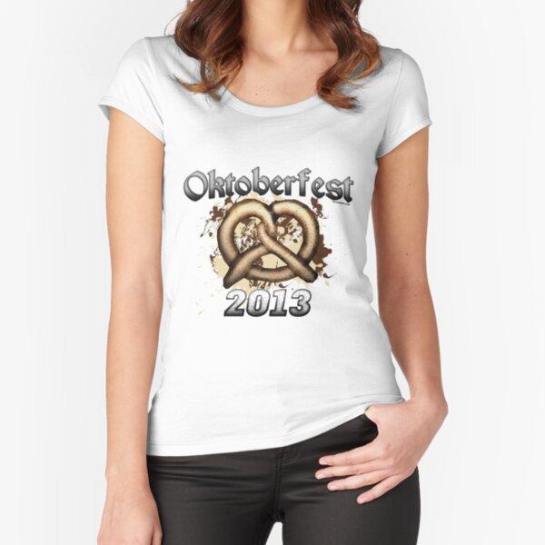 Oktoberfest Pretzel 2013 Fitted Scoop T-Shirt
