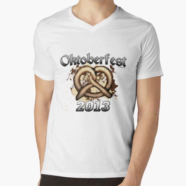 Oktoberfest Pretzel 2013 V-Neck T-Shirt