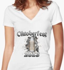 Oktoberfest Beer Stein 2013 Women's Fitted V-Neck T-Shirt