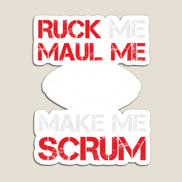 Rugby Ball Ruck Me Maul Me Rugby Player  Magnet
