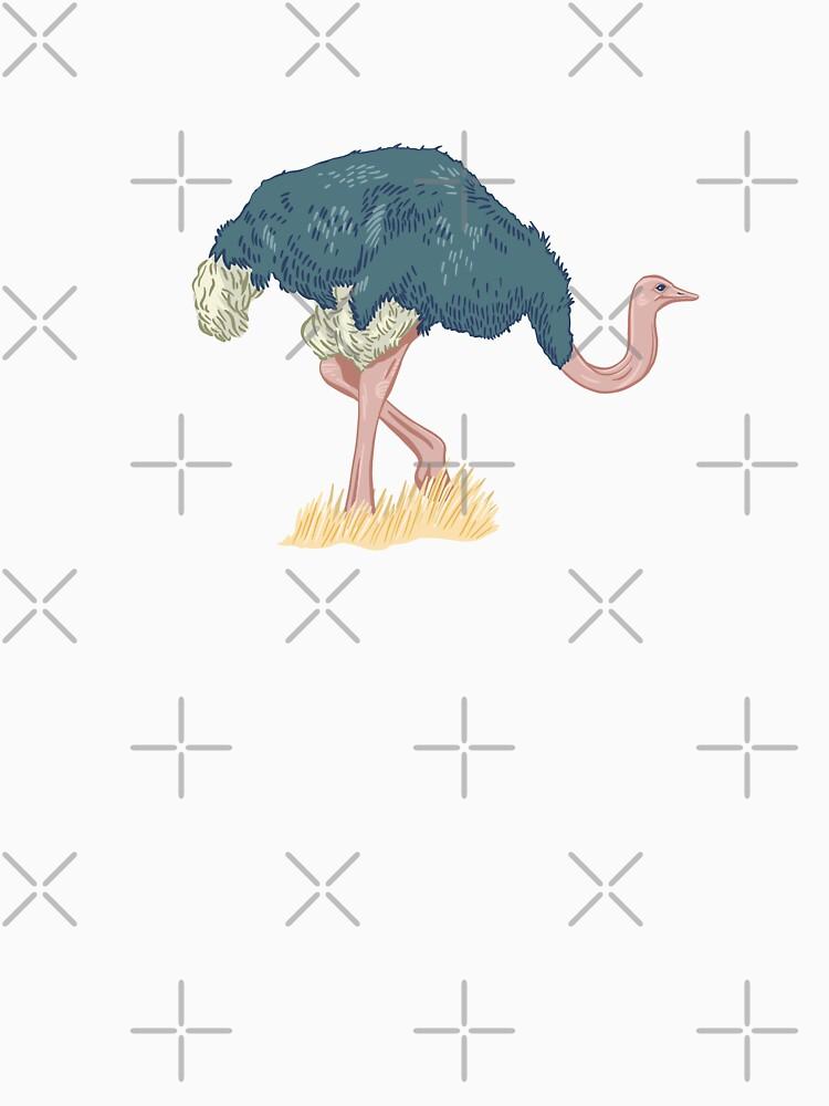 Elegant Ostrich  by darcidoodlewent