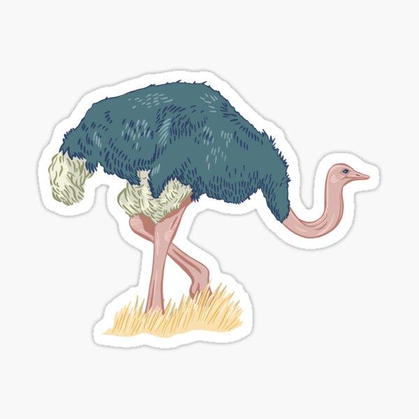 Elegant Ostrich  Sticker