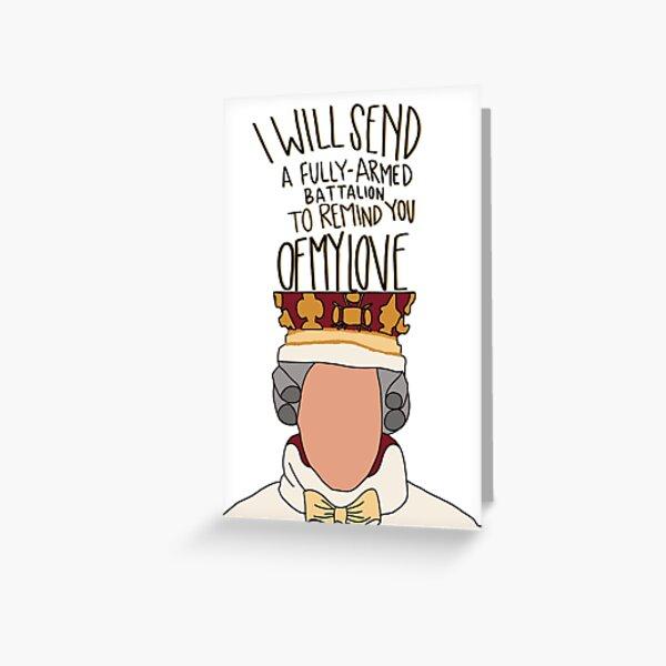 le roi George Carte de vœux