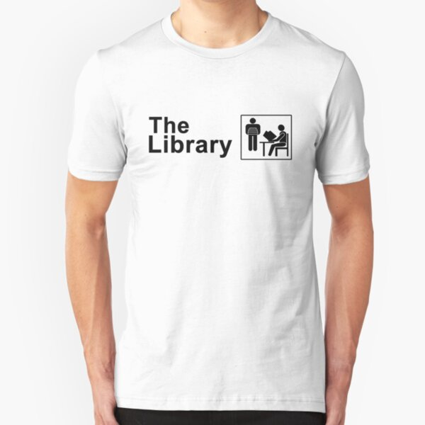The Library Logo in black Slim Fit T-Shirt