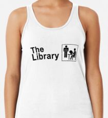 The Library Logo in black Racerback Tank Top