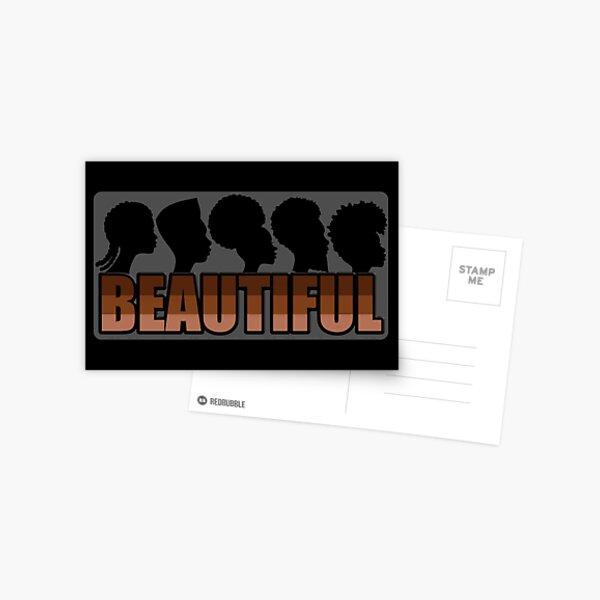 black is beautiful natural hairstyles and brown skin tones  Postcard