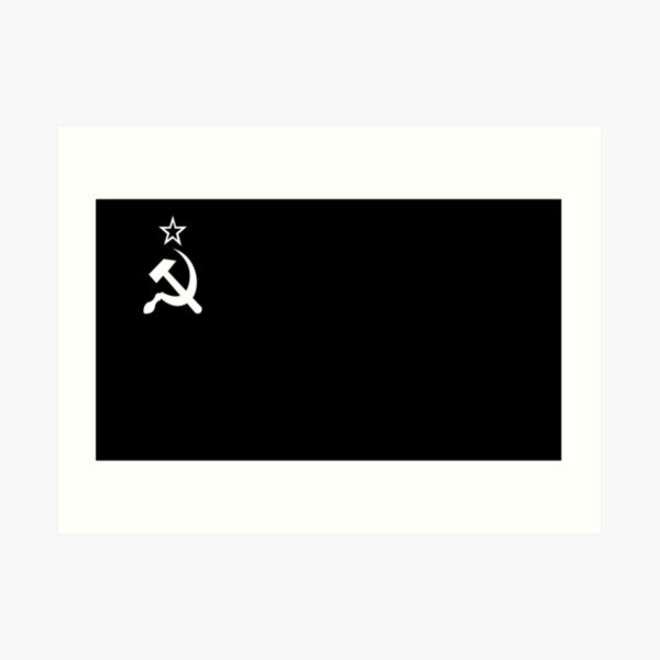Russkeey Designs (White Soviet Flag)  Art Print
