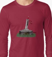 Cloud Sword In The Stone Long Sleeve T-Shirt