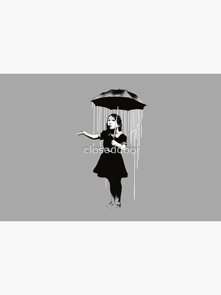 Banksy Rain by closeddoor