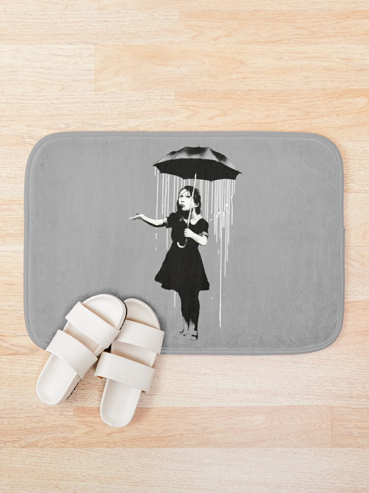 Alternate view of Banksy Rain Bath Mat