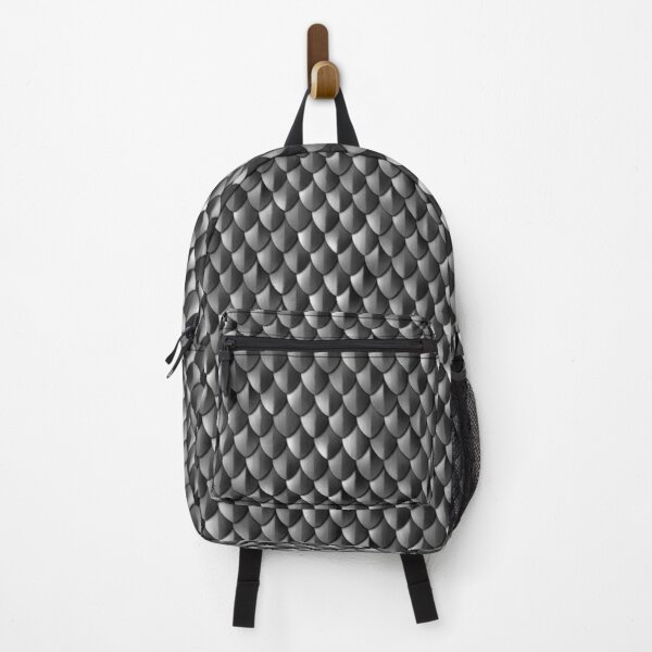 Medieval Armor - Dragon Scales Pattern - Black Backpack