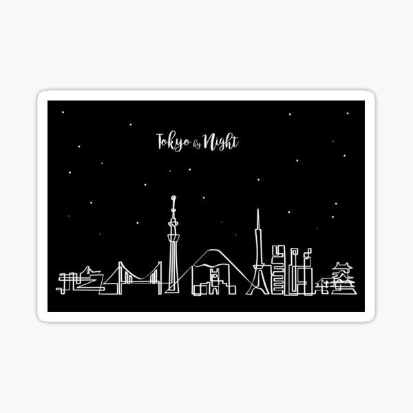 Tokyo skyline at night Sticker