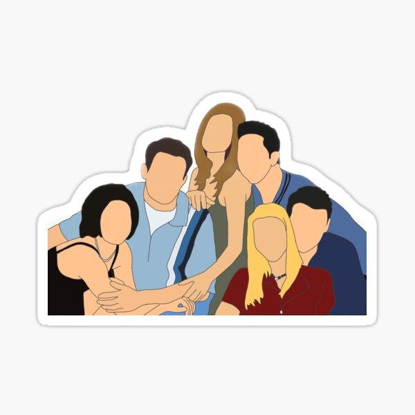 chandler, joey, rachel, monica, phoebe, ross Sticker