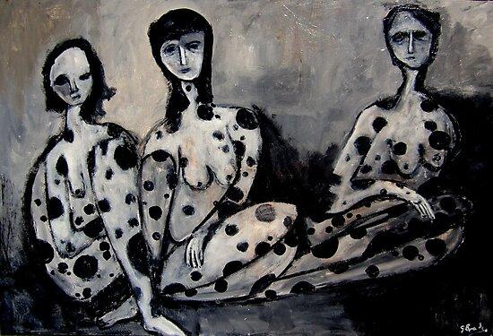 black spotted women by glennbrady