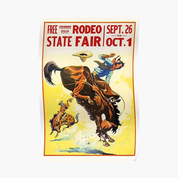 Vintage 1930s Rodeo Poster Restored Poster