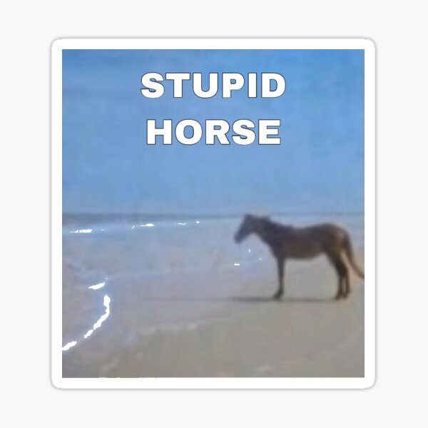 stupid horse 100 gecs Sticker