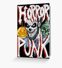 Horror Punk Greeting Card