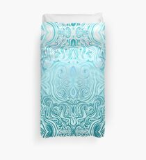Twists & Turns in Turquoise & Teal  Duvet Cover