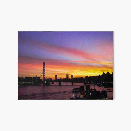 London at Sunset 2 Art Board Print
