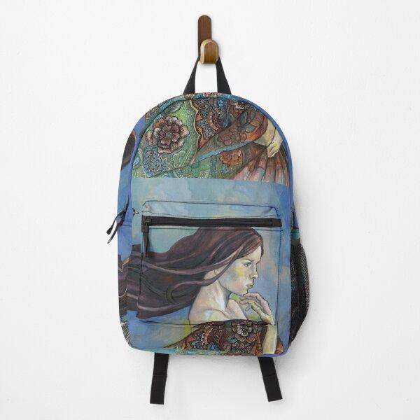Bird on Her Hair. Backpack