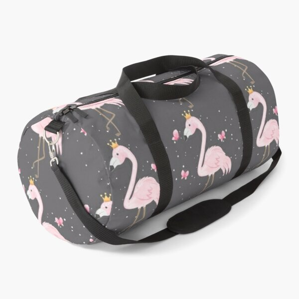 Flamingo and butterflies Duffle Bag