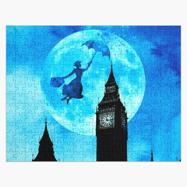 Magical Watercolor Night - Mary Poppins Jigsaw Puzzle