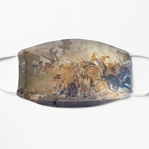 Battle of Alexander the Great and Darius III mosaic  Mask
