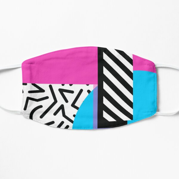 Colorful Retro Memphis Abstract Mask