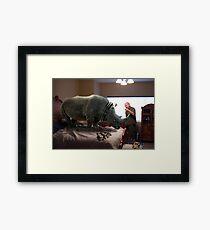 Bad Rhino! Framed Print